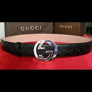 Other - New w/ Tags Authentic Black Guccissima Gucci Belt